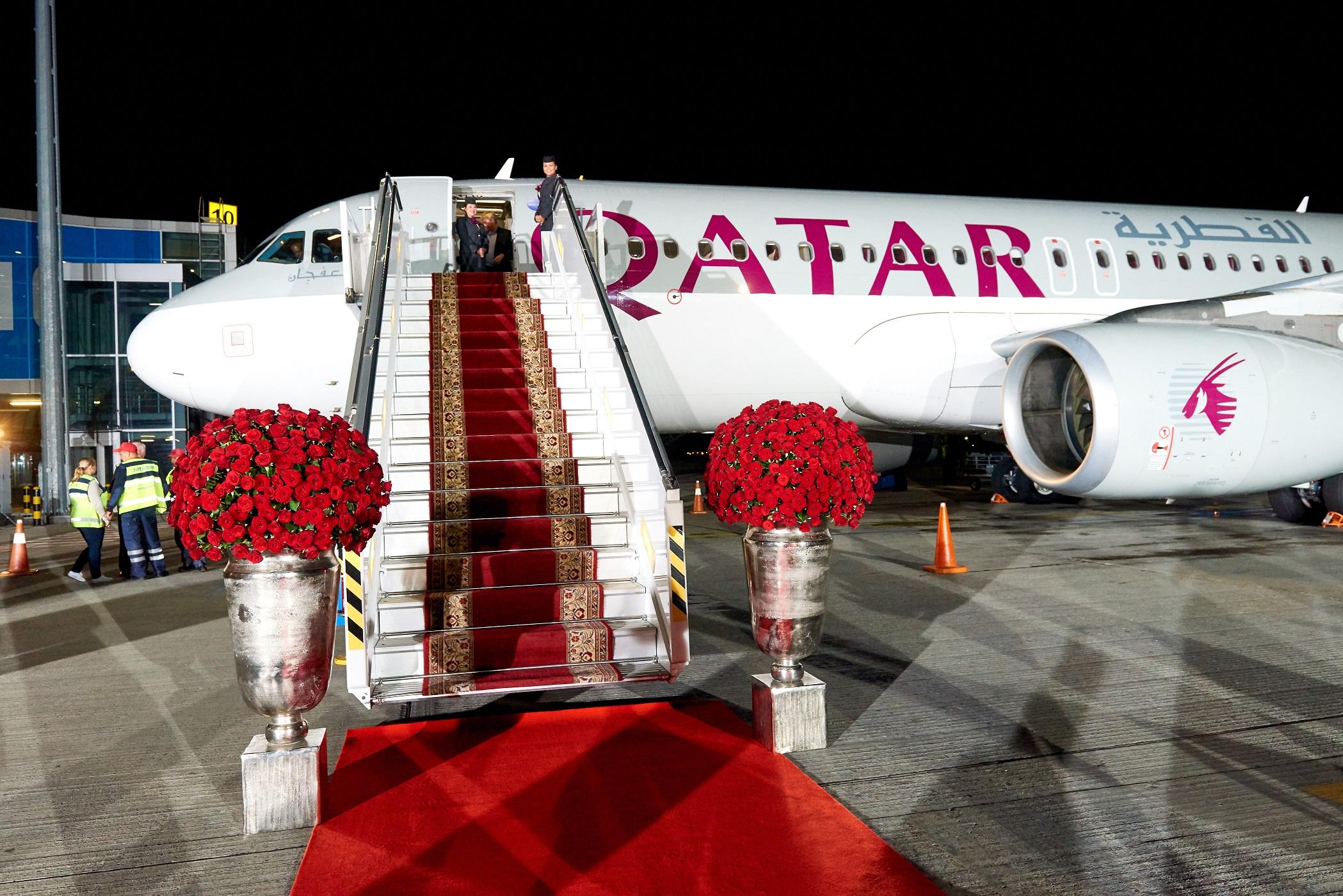 В Киеве приземлился первый самолет Qatar