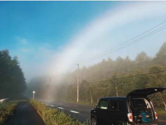 Японский фотограф нашел конец радуги