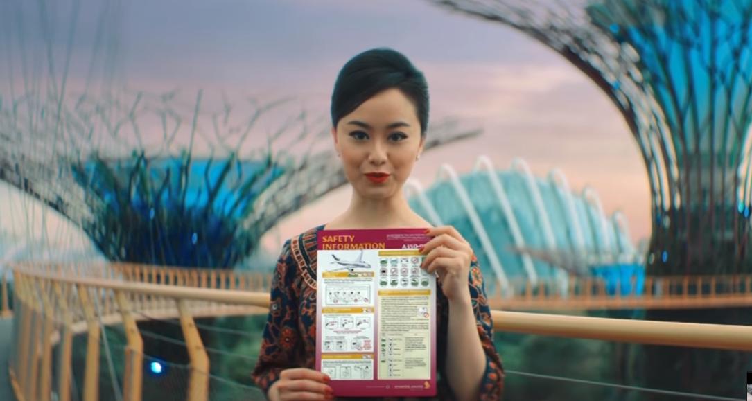 Авиалинии Сингапура сняли самое красивое видео безопасности