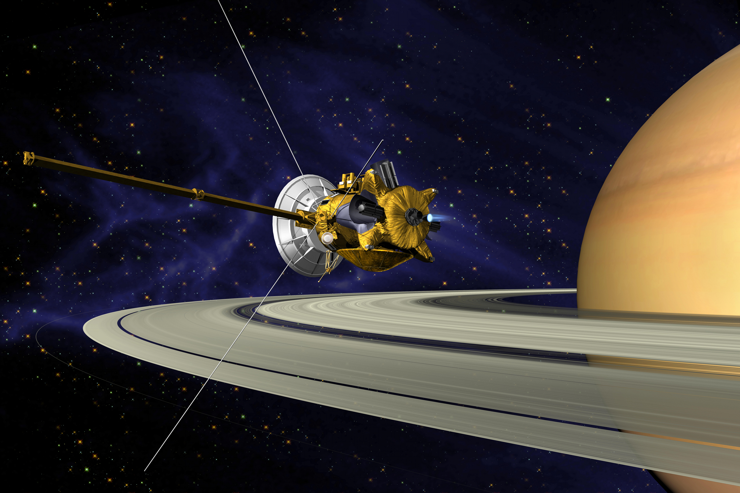Великий финал: Кассини совершит самоубийственную посадку на  Сатурн.Вокруг Света. Украина