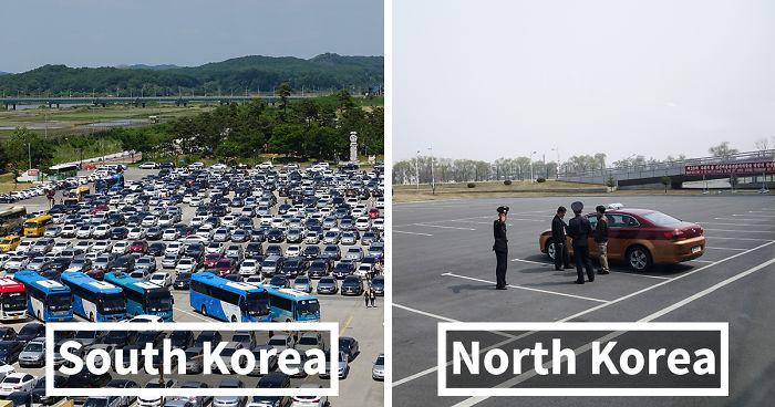 Найди 7 отличий: фотограф сопоставил кадры Северной и Южной Кореи.Вокруг Света. Украина