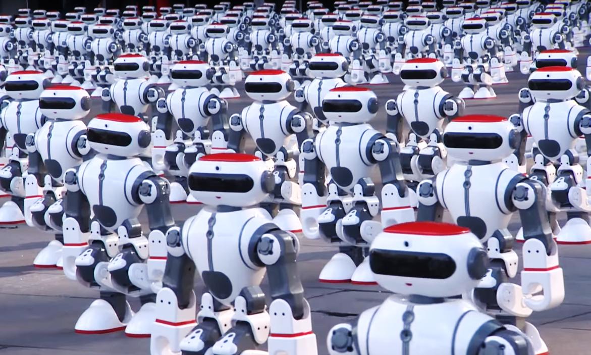 1069 танцевальных роботов установили новый мировой рекорд (видео)