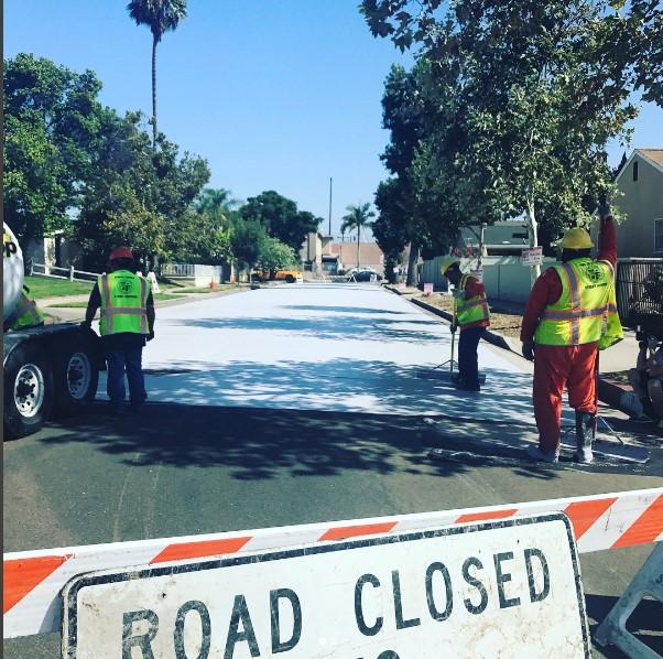 Лос-Анджелес сдерживает глобальное потепление покраской улиц