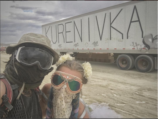 На фестивале Burning Man украинцы устроили Майдан