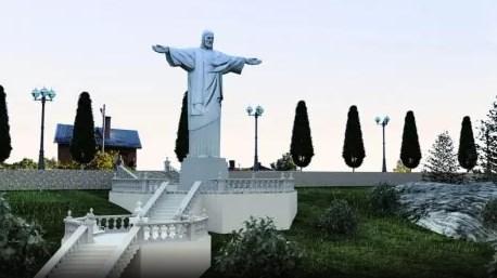 В Трускавце установили копию статуи Христа в Рио-де-Жанейро