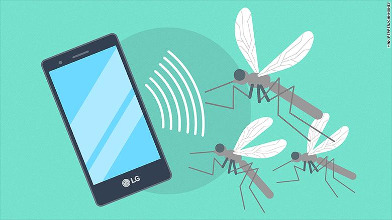 В Южной Корее появился смартфон, который отпугивает комаров ультразвуком