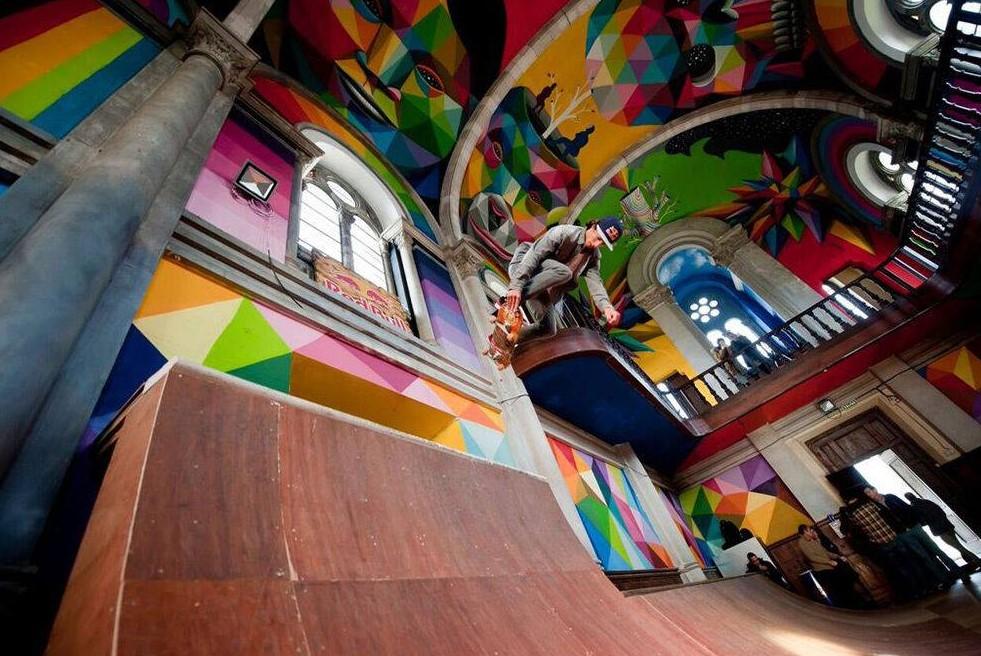 В Испании из 100-летней церкви сделали скейт-парк
