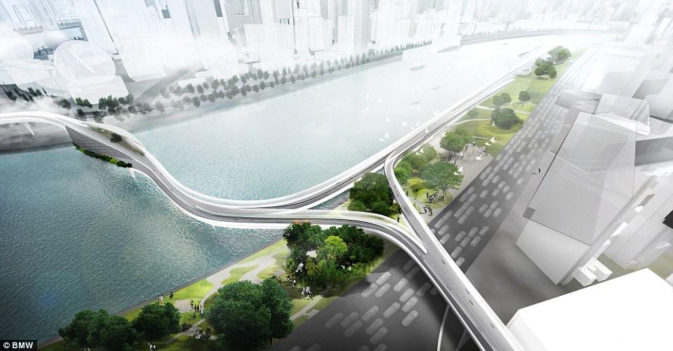 В Шанхае построят скоростной туннель для велосипедов. В воздухе