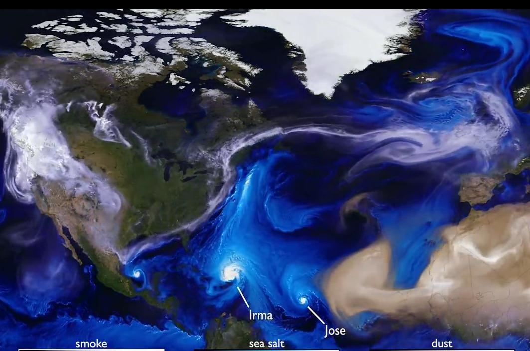 Скрытая красота ураганов: NASA показало таймлапс-видео разрушительных штормов 2017 года