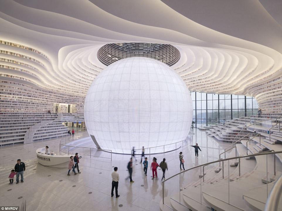 Самая красивая библиотека в мире открылась в Китае