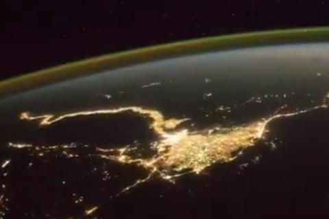 Астронавт показал грозу из космоса