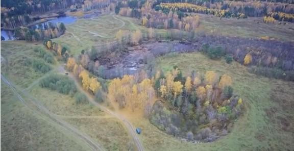 В России озеро провалилось под землю