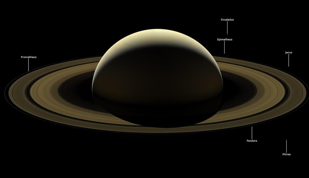 За два дня до гибели: NASA показало прощальный снимок Cassini