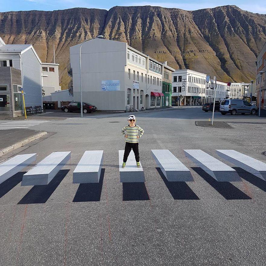 Обман зрения: в Исландии появился 3D-переход.Вокруг Света. Украина
