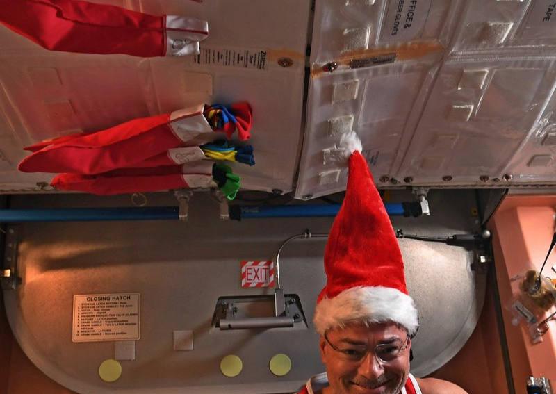 Как астронавты NASA отпраздновали Рождество (видео)