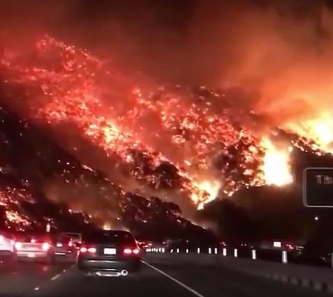 Пожар в районе Лос-Анджелеса: фильм-катастрофа в реальности