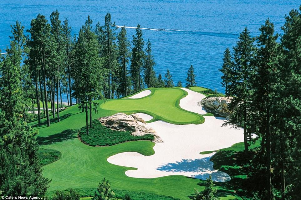 Лунка для гольфа, до которой можно добраться только вплавь Лунка для гольфа, до которой можно добраться только вплавь 4890A13B00000578 5311523 image a 27 1516879514300