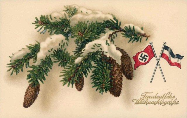 Елка и свастика: как выглядели новогодние открытки в Третьем рейхе (фото)