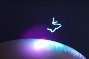 Изобрели 3-D проектор, рисующий подвижные картинки в воздухе (видео)