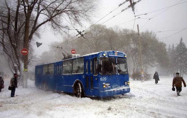 В Украину идут мощные снегопады