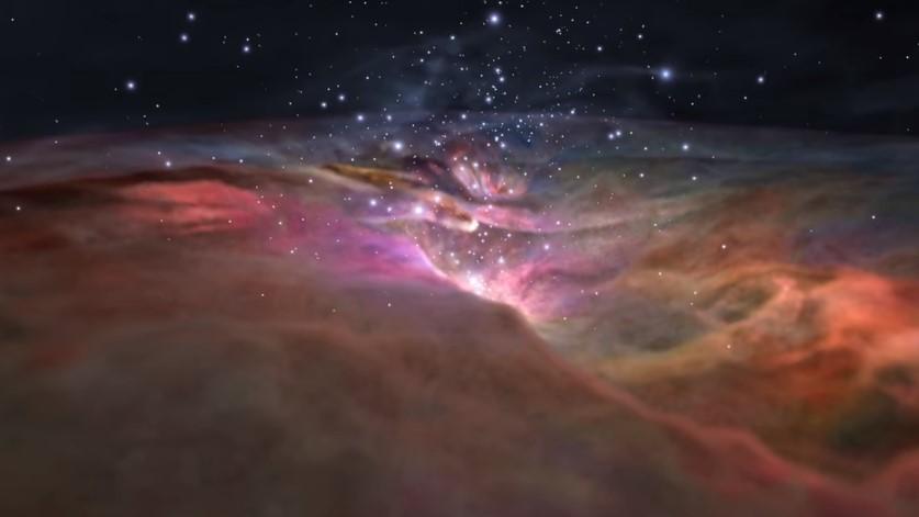 NASA предлагает полет через туманность Ориона