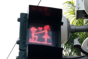 День св. Валентина: светофоры Тайваня перепрограммировали на влюбленность