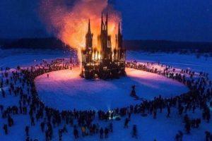 В России вместо чучела сожгли