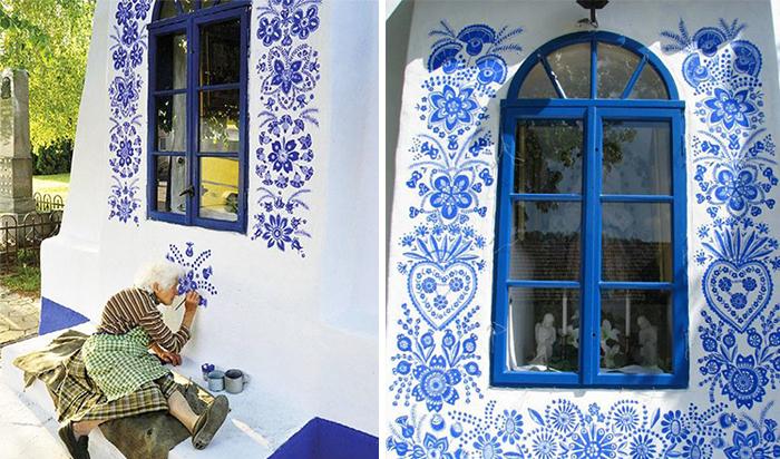 90-летняя бабушка расписала чешскую деревню 90-летняя бабушка расписала чешскую деревню house painting 90 year old grandma agnes kasparkova 59d341d94202e  700
