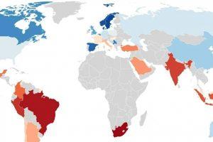 Самые необразованные страны мира (карта)