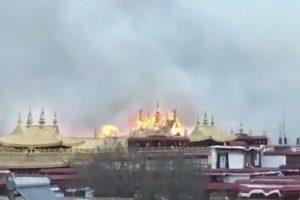 В Тибете горел буддийский монастырь VII века