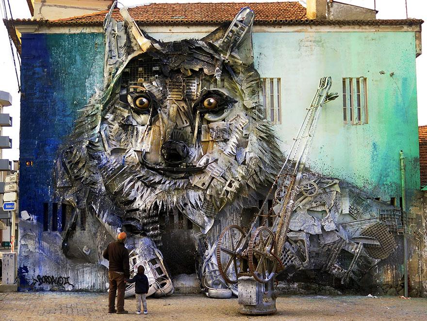 Искусство секонд-хенд: португальский художник создает скульптуры из мусора Искусство секонд-хенд: португальский художник создает скульптуры из мусора trash animal sculpture artur bordalo 25 57ea1be1bdc2c  880
