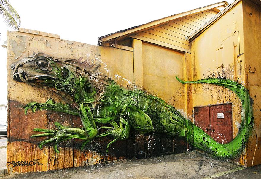 Искусство секонд-хенд: португальский художник создает скульптуры из мусора Искусство секонд-хенд: португальский художник создает скульптуры из мусора trash animal sculpture artur bordalo 8 57ea1bb47cbfd  880