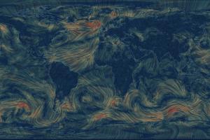 Создана визуальная карта ветров мира