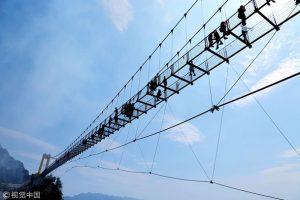 В Китае открыли самый высокий стеклянный мост