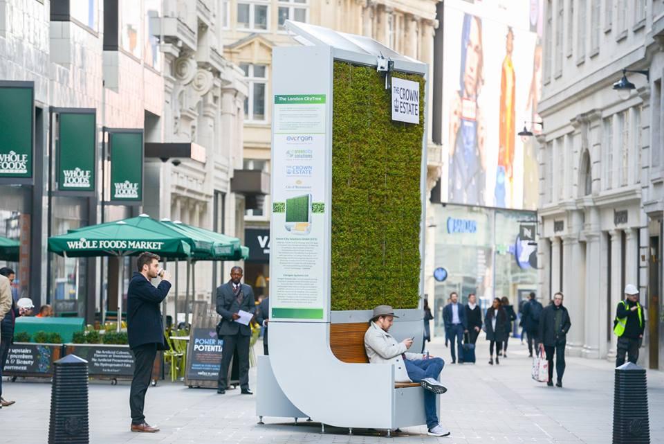 В Лондоне установили первую Hi-Tech скамейку, заменяющую деревья.Вокруг Света. Украина