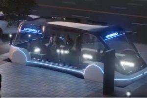 Илон Маск показал электроавтобус для скоростного туннеля