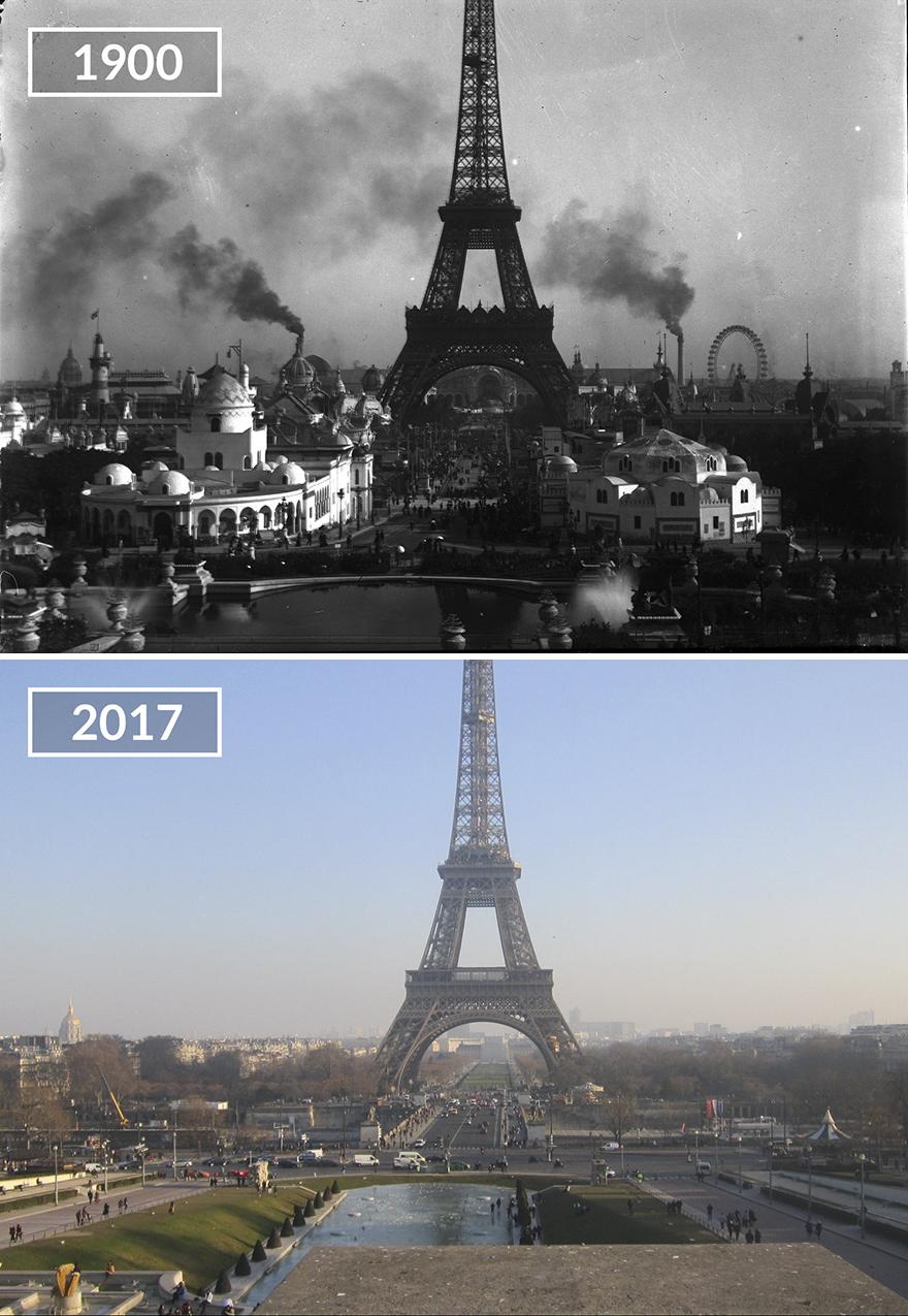 Париж 100 лет назад и сейчас: фото до и после Париж 100 лет назад и сейчас: фото до и после Paris1 1