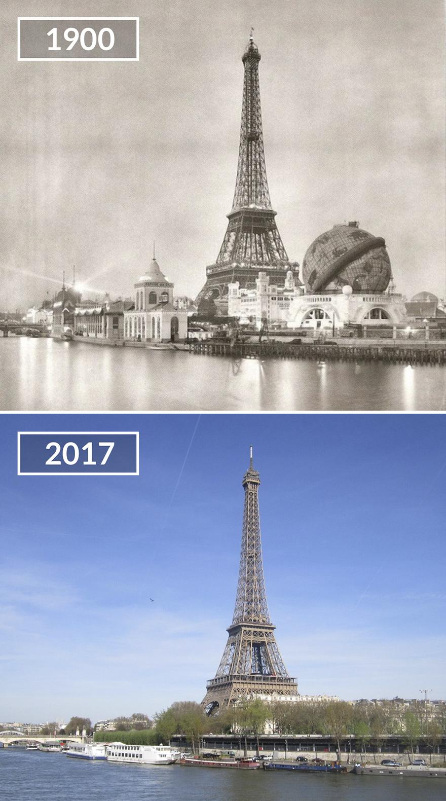 Париж 100 лет назад и сейчас: фото до и после Париж 100 лет назад и сейчас: фото до и после Paris2