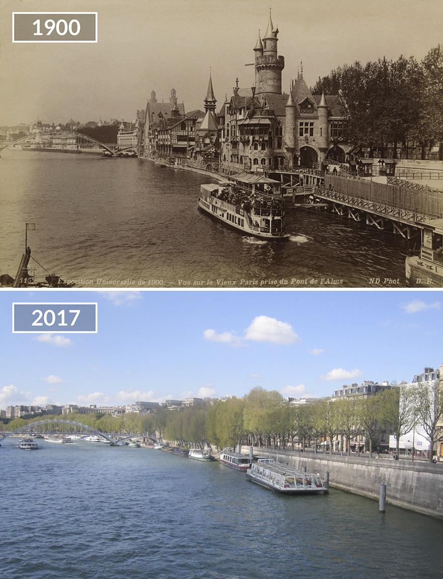 Париж 100 лет назад и сейчас: фото до и после Париж 100 лет назад и сейчас: фото до и после Paris3