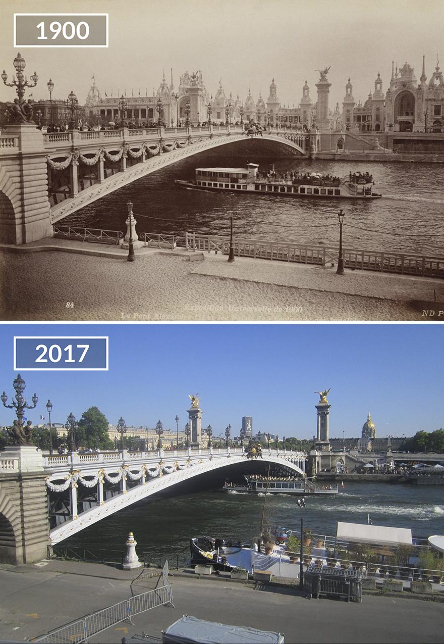 Париж 100 лет назад и сейчас: фото до и после Париж 100 лет назад и сейчас: фото до и после Paris4