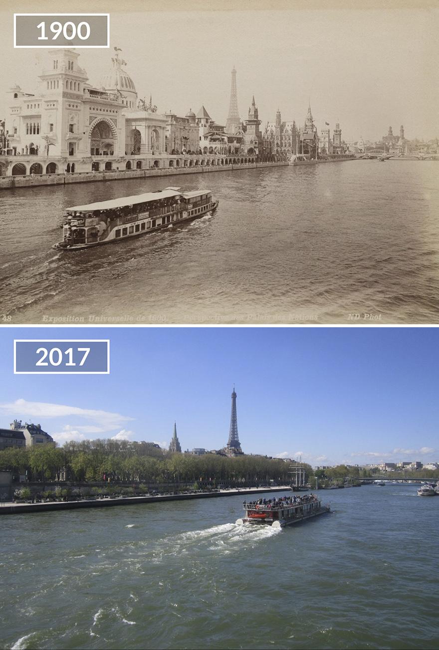 Париж 100 лет назад и сейчас: фото до и после Париж 100 лет назад и сейчас: фото до и после Paris5