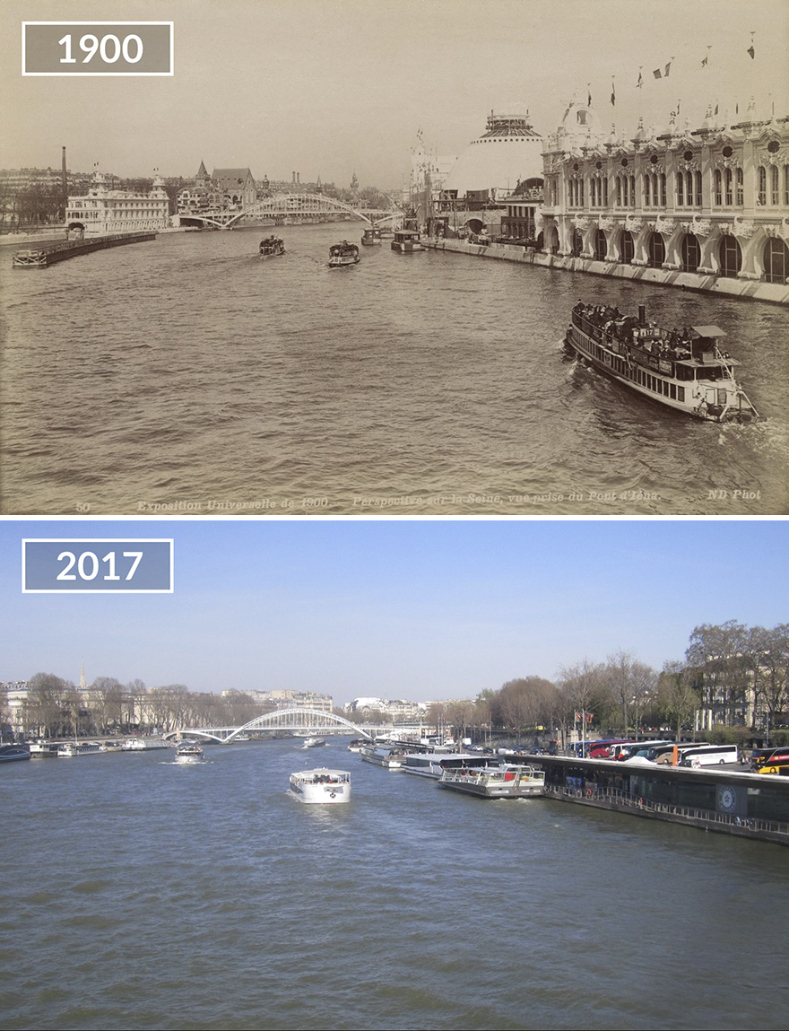Париж 100 лет назад и сейчас: фото до и после Париж 100 лет назад и сейчас: фото до и после Paris7