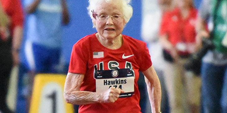 102-летняя спортсменка установила два мировых рекорда
