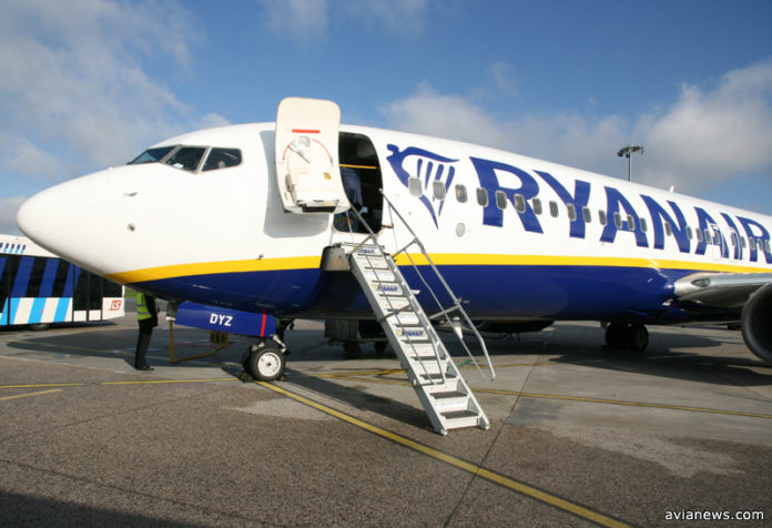 Стали известны первые маршруты Ryanair из Украины