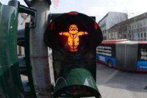 Карла Маркса поместили в светофор
