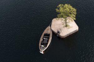 В Копенгагене появился странный остров