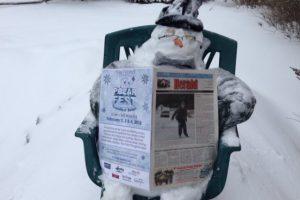 В Европе стартовал флешмоб снеговиков