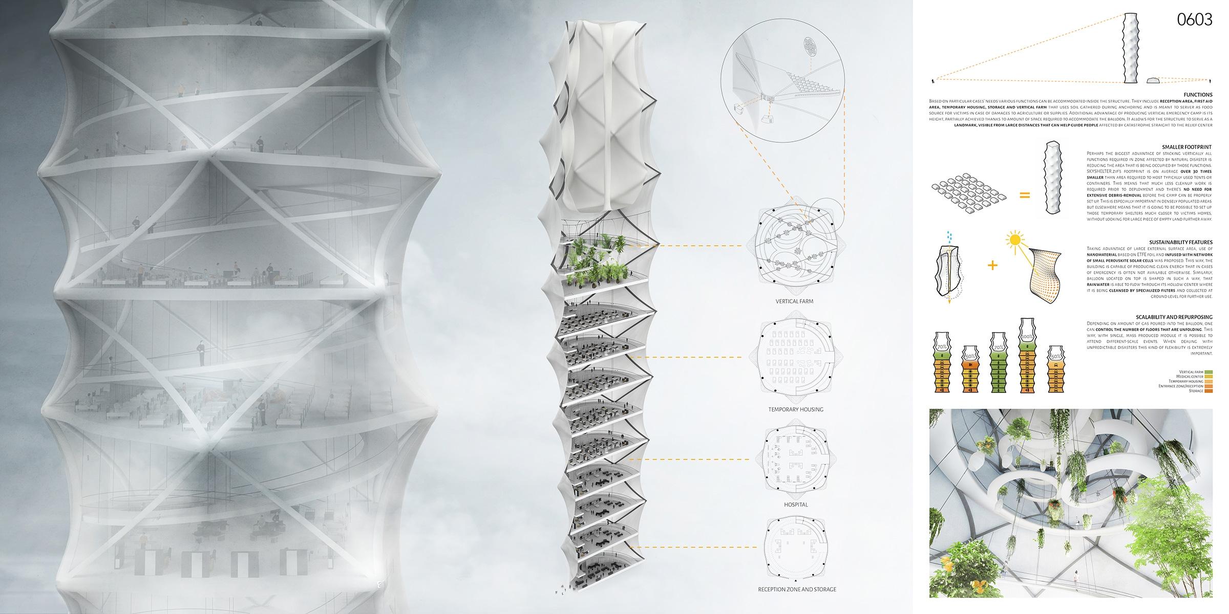 Поляки придумали складной небоскреб-оригами для тысячи бездомных Поляки придумали складной небоскреб-оригами для тысячи бездомных 271826
