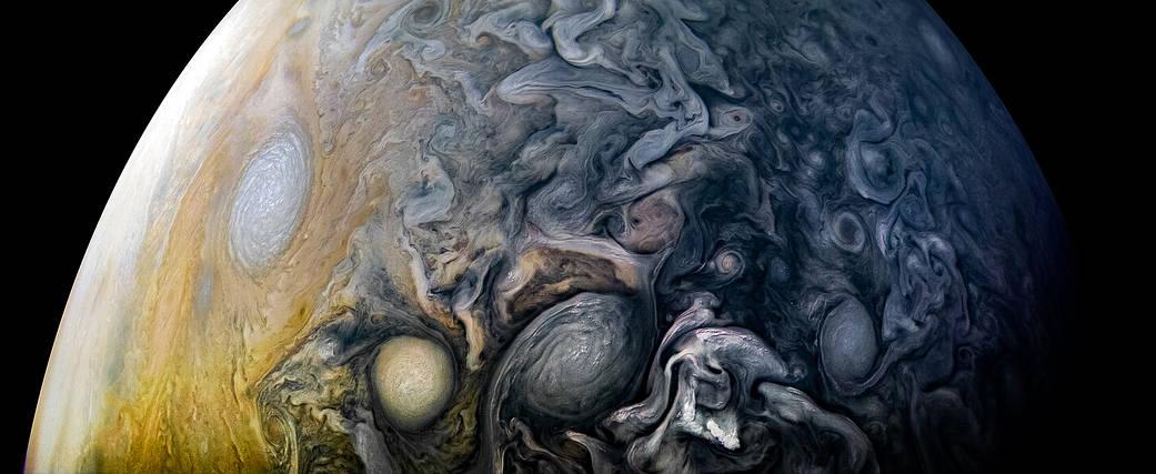 Обратная сторона Юпитера