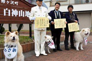 Бездомный пес стал начальником вокзала в Японии